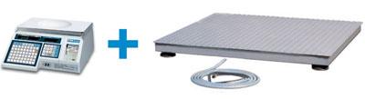 Доступно решение использования весов CAS LP для маркировки товаров весом от 30 кг до 5 тонн