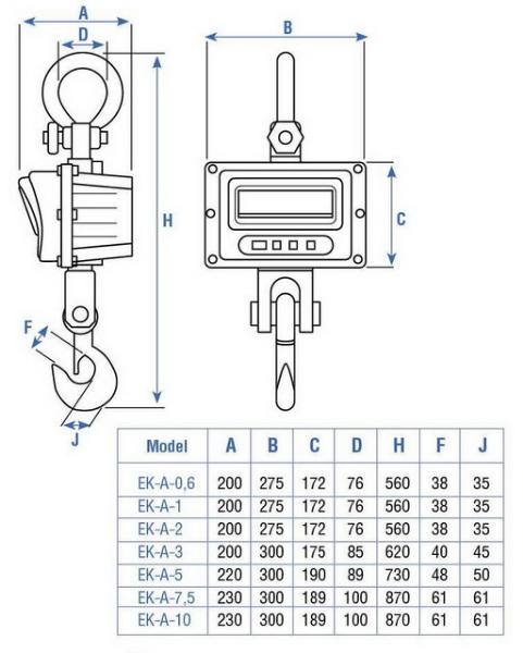 Купить весы крановые Масса-К ЕК-А в Минске от мирового производителя гарантийный и послегарантийный ремонт